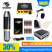 Professional Tattoo Pen Kit Rotary Machine Set With LCD Mini Power Pedal Switch Supply