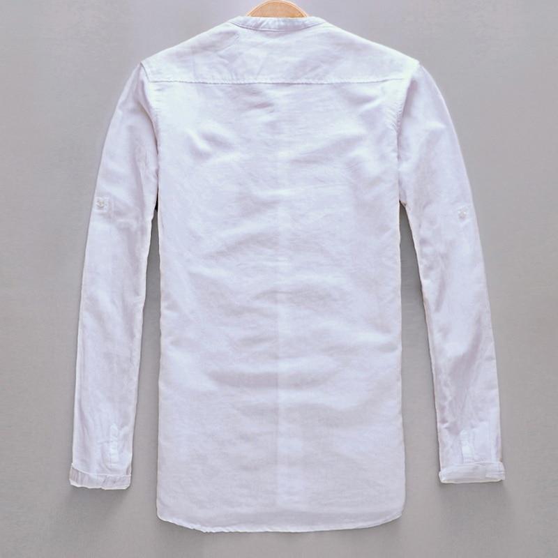 Brand Shirt Men Casual Slim Fit Designer Meeste särk Pikkade - Meeste riided - Foto 2