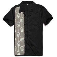 Рубашка с рисунком стрелы, винтажный принт, хип-хоп, одежда для мужчин, Rockabilly Club Charley Harper, вдохновленные полотняные блузки