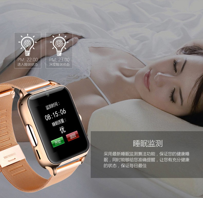 Bluetooth Smart Cell phone  Watch Classic Health Metal Smartwatch  phone watch for Android ISO Phone Remote Camera Clock