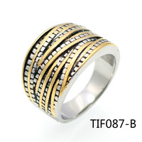 European Titanium Steel Ring Ma Am Ornaments Restore Ancient Ways Stainless Steel Color Rope Lord Of