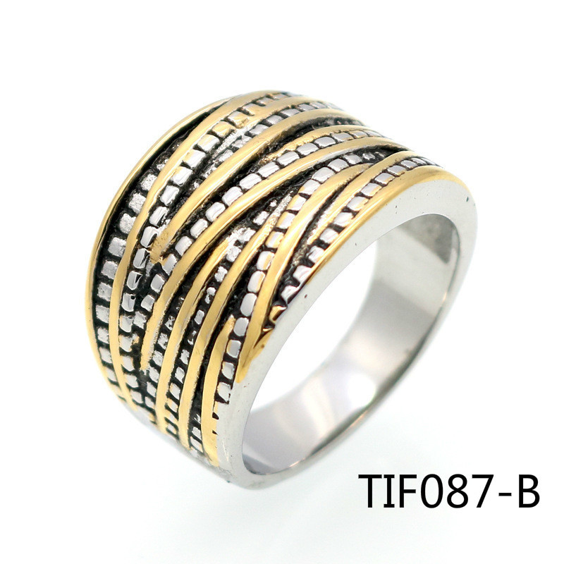 European Titanium Steel Ring Ma'am Ornaments Restore Ancient Ways Stainless Steel Color Rope lord of the rings for women
