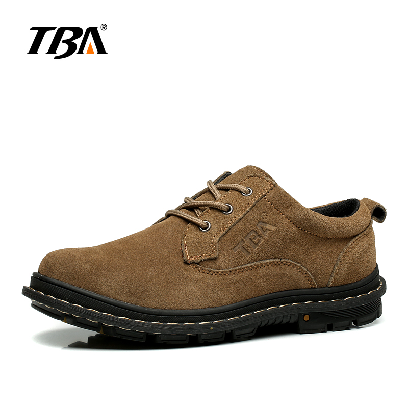 TBA Tactical Boots Mountain Hiking Shoes Men Top Rubber Sole Mens Winter Sneakers Waterproof Leather Trekking Men's Sport Shoes big size 46 men s winter sneakers plush ankle boots outdoor high top cotton boots hiking shoes men non slip work mountain shoes