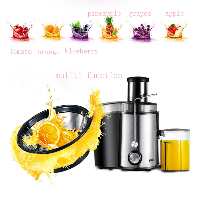1pc Household Juice Making Machine Electric Fruit Vegetable Baby Juicer  Multi-functional Home Use Juice Maker ZZJ1 household electric juicer fruit juice maker machine automatic vegetable low speed extractor mixer