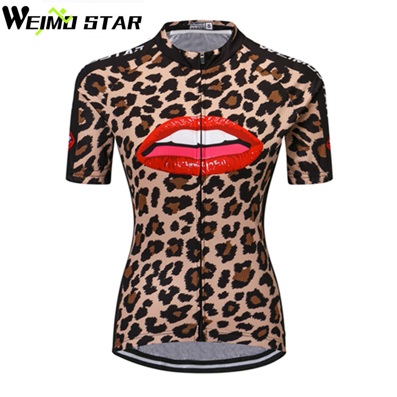 WEIMOSTAR Team Short Sleeve Ropa Ciclismo Cycling Women Girls Bicycle Jersey   Bike Wear Leopard shirt Tops Size S 4XL-in Cycling Jerseys from Sports ... 868201936