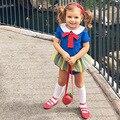 2017 de verano de dibujos animados blancanieves princesa cosplay newborn baby girls clothing del partido del mono onesie envío gratis