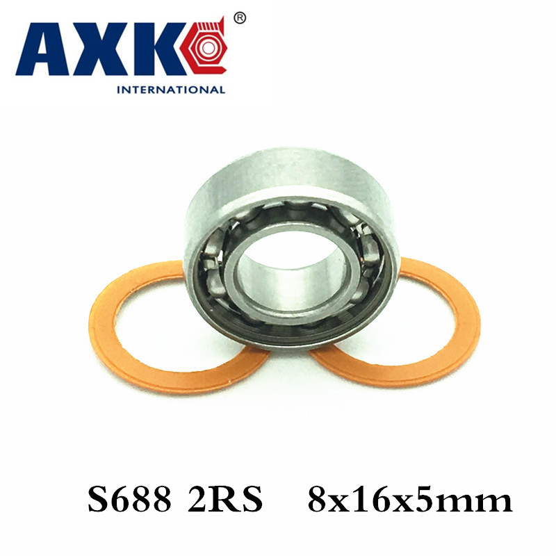 Axk 8x16x5 S688 2rs Cb Abec7 8x16x5mm Stainless Steel Hybrid Ceramic Ball Bearing free shipping 50pcs lot miniature bearing 688 688 2rs 688 rs l1680 8x16x5 mm high precise bearing usded for toy machine