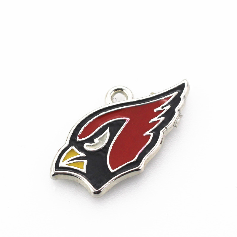 Hot Selling 10pcs Football Sport Arizona Cardinals Charm Dangle Charms Diy Bracelets Jewelry Accessory Hanging Floating Charms