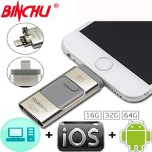 IOS10 BINCHU para Iphone OTG Unidade Flash Usb para o IPAD Do Iphone 5 6 7 Bellek Memória Fash Memory Stick Pendrive para O Iphone para o Ipad