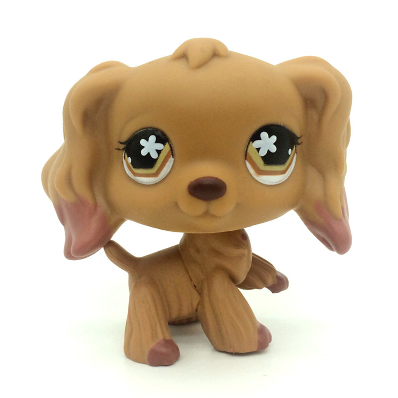 pet shop Original #575 LPS Tan Cocker Spaniel Dog Brown Dipped Ears figure Toys lps toy pet shop cute beach coconut trees and crabs action figure pvc lps toys for children birthday christmas gift