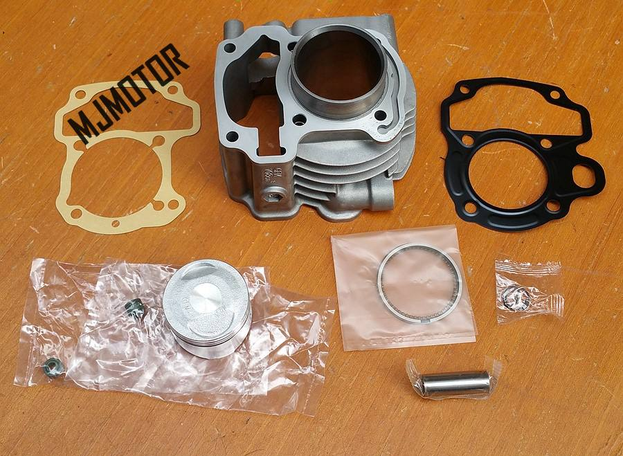 full set Cylinder Kit with Piston Rings For Honda LEAD110 SCR110 Engine Chinese QJ Keeway Motorcycle suzuki atv part piston assy 68mm for honda gx200 6 5hp enges free shipping cheap kolben w rings wrist pin