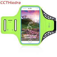 CCTHiedra Brand Waterproof Sport Gym touch Running Arm Band Belt Cover For iPhone 8 7 7 Plus 6 6s Mobile Phone Bag Armband Case