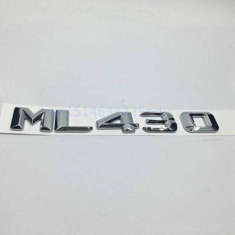 Gövde Arka Amblemi Etiket Rozet Sembolü Işareti Krom Harfler ML 430 Mercedes W163 W164 ML ML430