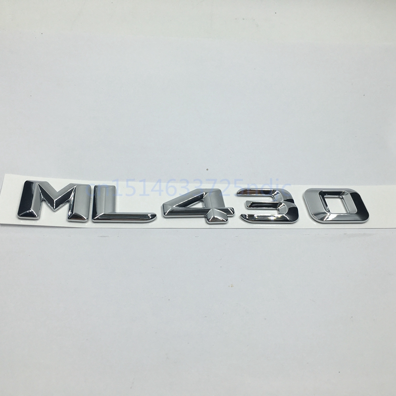 Trunk Rear Emblem Nameplate Badge Symbol Sign Chrome Letters ML 430 for Mercedes <font><b>W163</b></font> W164 ML ML430 image