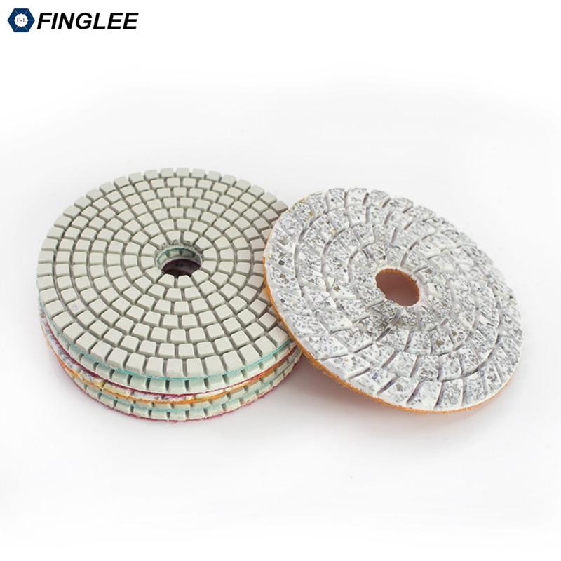 FINGLEE 4 colių 100 mm 3 žingsnių šlapio naudojimo deimantų - Elektriniai įrankiai - Nuotrauka 4