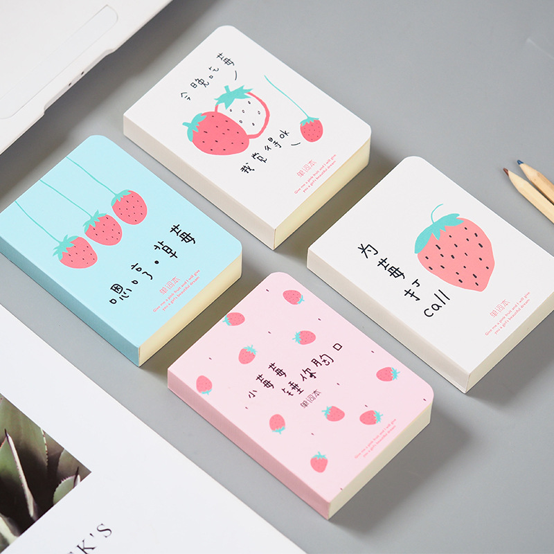 Adorable Lovely Strawberry Vocabulary Notebook Recite Words Learn Foreign Language Planner Student Stationery School Supply