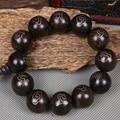 2.0 см черное дерево декор стерлингового серебра 925 тибетского буддизма молитва бусины будда браслеты четки деревянные украшения