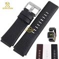 Convex interface Genuine Leather bracelet men Wide watchband 28mm Wristwatch band strap wristband accessories for DZ1123 DZ1131
