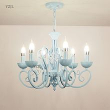 European minimalist bedroom restaurant Barbers chandelier candle lighting Princess room child lights