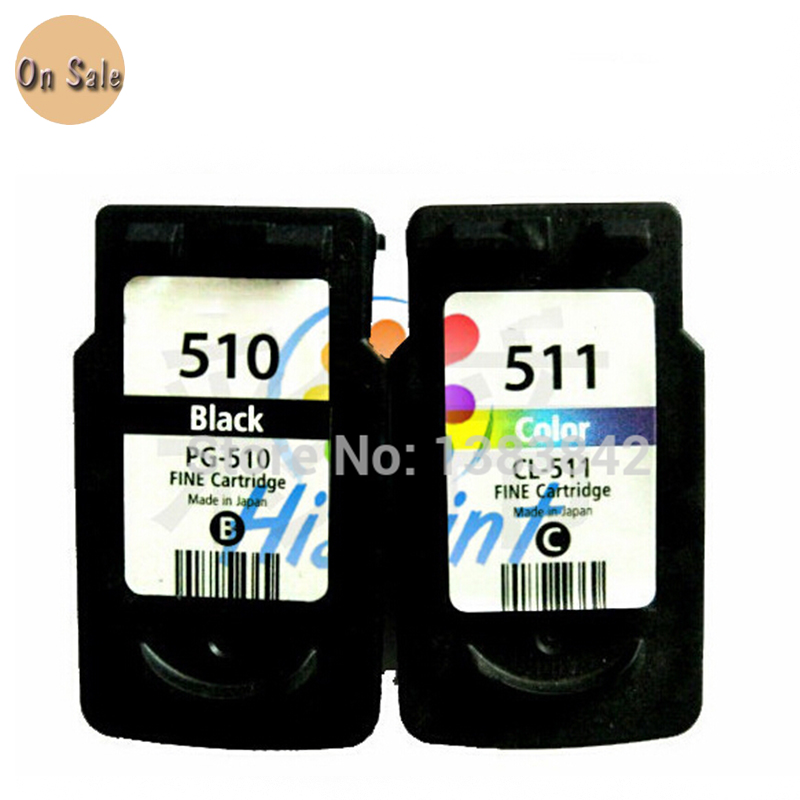ФОТО 1 Set Ink Cartridge for Canon PG 510 CL 511 PG-510 CL-511 for MP270 MP280 MP480 MP490 MX350 MP240 iP2700 printer inkjet