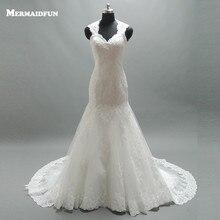 Vestido De Novia Lace Mermaid Wedding Dress Romantic Appliques Lace Bride Dresses Vestido De Noiva