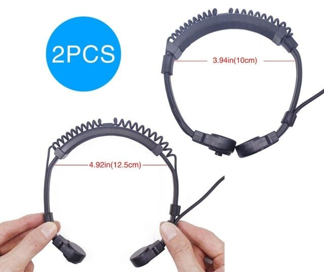 2pcs ABBREE Extendable Throat MIC PTT headphone Headset for Kenwood BAOFENG BF 888s UV 5R UV 82 UV 5RE 2 way radio Walkie Talkie