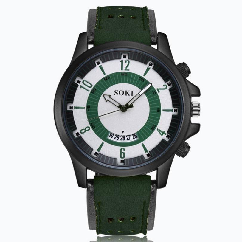 2018 Prawdziwy Top Sprzedaży Luksusowa Moda Żel krzemionkowy Skóra - Męskie zegarki - Zdjęcie 1