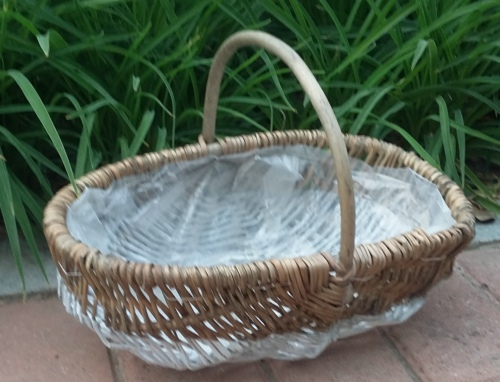 Free Shipment Willow Flower Baskets Wicker Pot With Rustic Home And Garden Plastic Liner