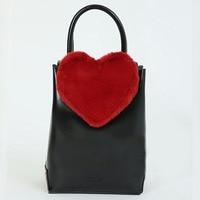 Women honey salooon Shoulder Bag fur love Chain Vintage Handbag Lovely Velour Bucket Messenger Bag Bolsa Feminina