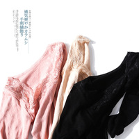 Japan And South Korea's New Self Heating Fiber Lace Jacquard Thermal Underwear, Pajamas Suit 3 Colors
