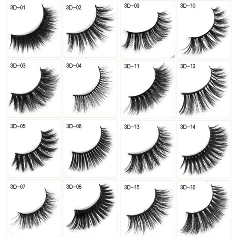 20pcs Mink Eyelashes False Eyelashes Criss cross Natural Fake lashes Length 25mm Makeup 3D Mink Lashes Extension Eyelash Beauty in False Eyelashes from Beauty Health