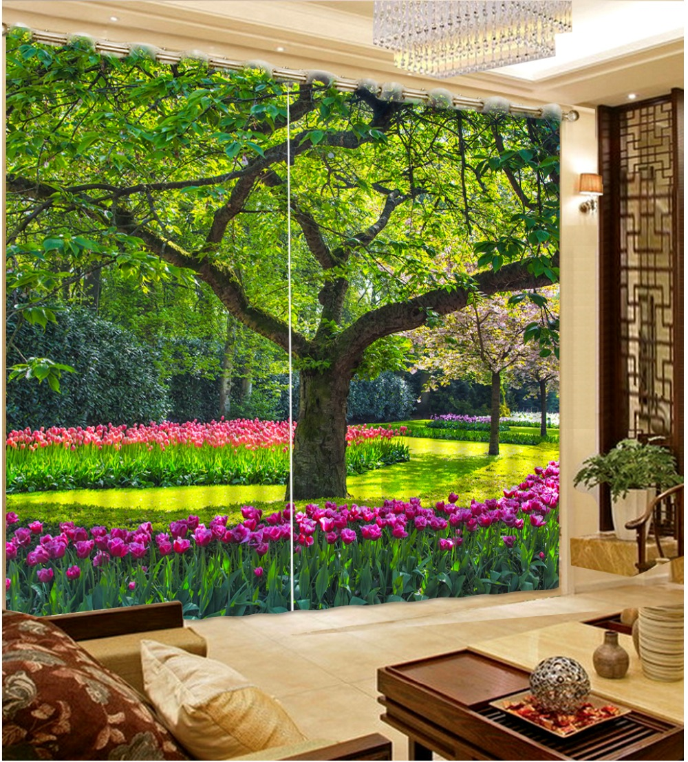 Photo Customize size Top Classic 3D European Style forest scenery Custom any size curtains