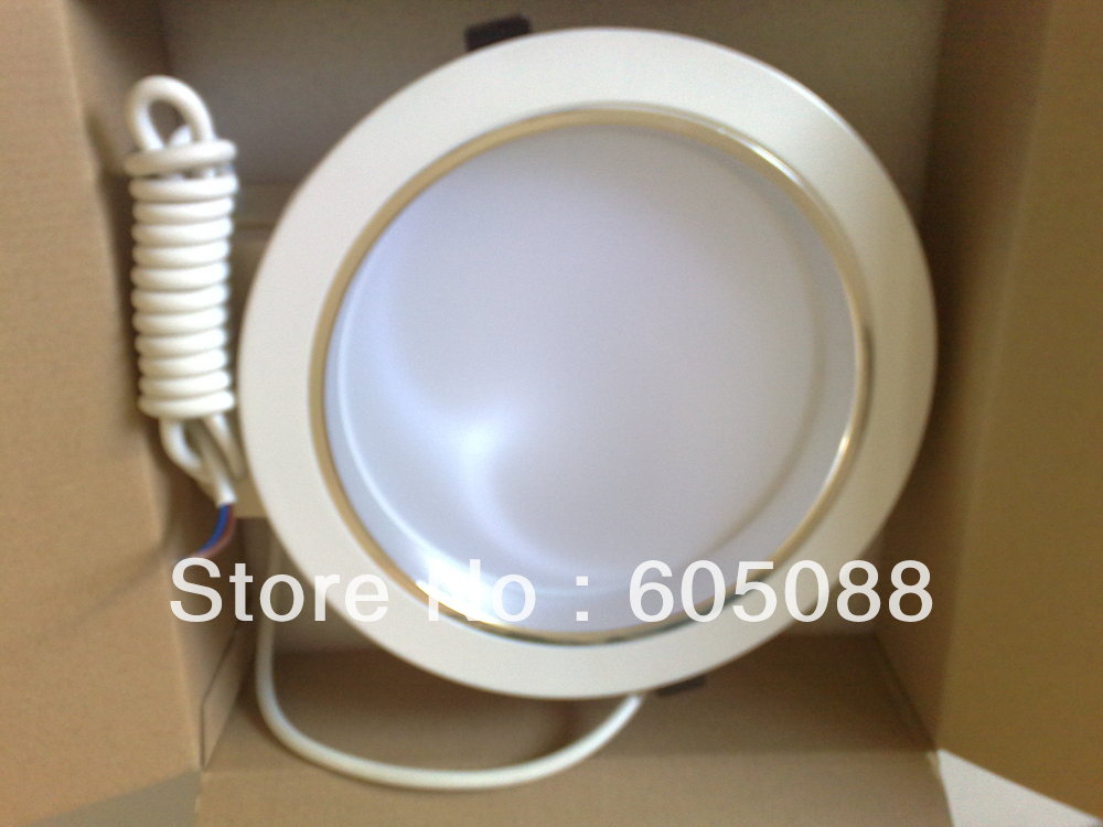 9 round 8w led recessed downlight die-cast aluminium shell easy to install good for heat dissipation 10pcs/lot,free shipping