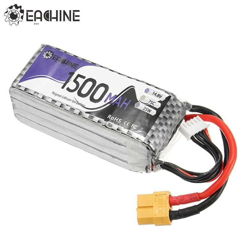 Eachine Wizard X220S FPV Racer Ersatzteil 4 S 14,8 V 1500 mAh 75C Batterie XT60 Steckverbinder Für RC Multirotor Modelle