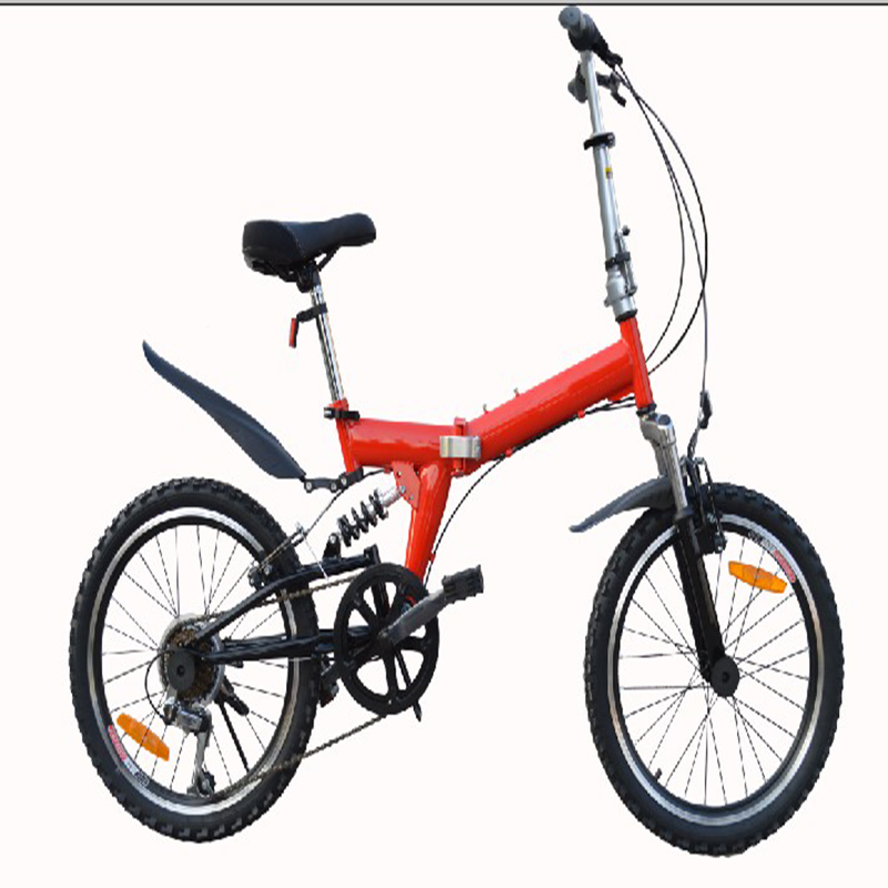 20 Inch Mountain Bicycle  Folding Bicycle High Carbon Steel Frame  /Bilateral Folding Pedal/  6 Grade Variable Speed Bicycle