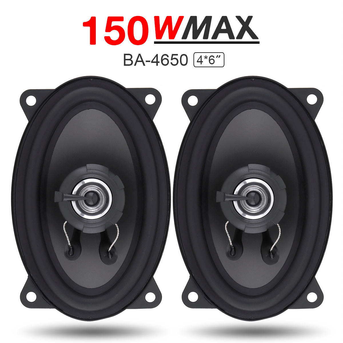 2pcs 4*6 Inch 2 Way 150W Car Coaxial Speaker Automobile Auto HiFi Audio Full Range Frequency Loud Speaker High Pitch Loudspeaker ghxamp 6 5 inch full range speaker coaxial horn car speaker unit 8ohm 30w neodymium car audio loudspeaker 2pcs