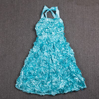 Quality 2017 Kids Designer Clothes Flower Pattern Party Frocks For Girls Child Gown Beautiful Princess Baby