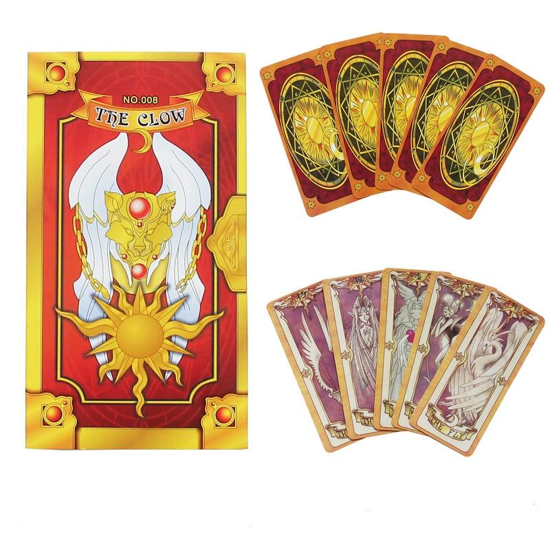 Anime 56 PCS Card Captor Sakura Cards With Pink Clow Magic Book Set Prop Gift