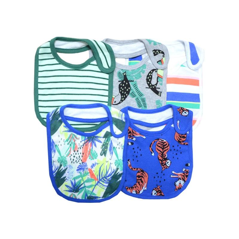 Детские слюнявчики, Vestido 3/5 шт., зимний шарф для малышей, милые друзья, нагрудники, сафари, тематические аксессуары с героями мультфильмов, бандана, детская одежда - Цвет: tiger