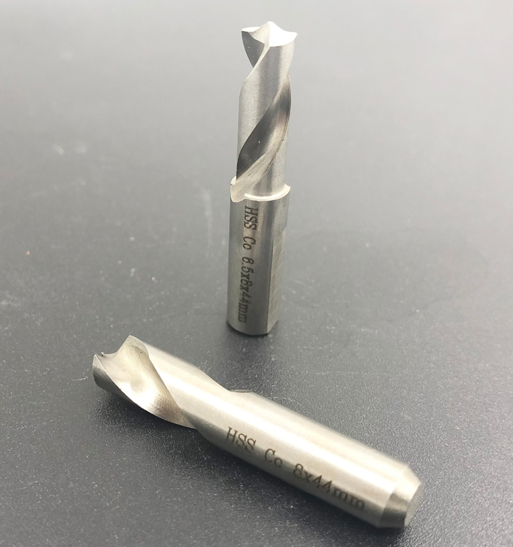 Haute Vitesse outils outils pneumatiques air outils voiture de soudage HSS CO spot weld foret w/crochet Gomme foret 6.5mm 8mm 44mm