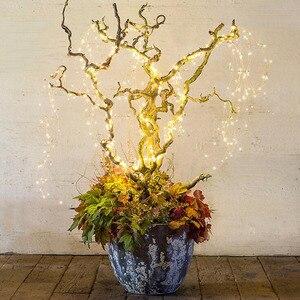 Image 3 - 1 セット/ロットクリスマスツリートッパー飾る Babysbreath ランプストリング木籐ライト銅線ランプ用パーティー結婚式 Dec