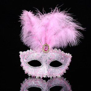 Image 4 - 1PC צבע פרימיום עור נוצת מסכת Masquerade מסיבות ליל כל הקדושים קרנבל מסכות שמלת תלבושות ליידי מתנות מסיבת מסכות