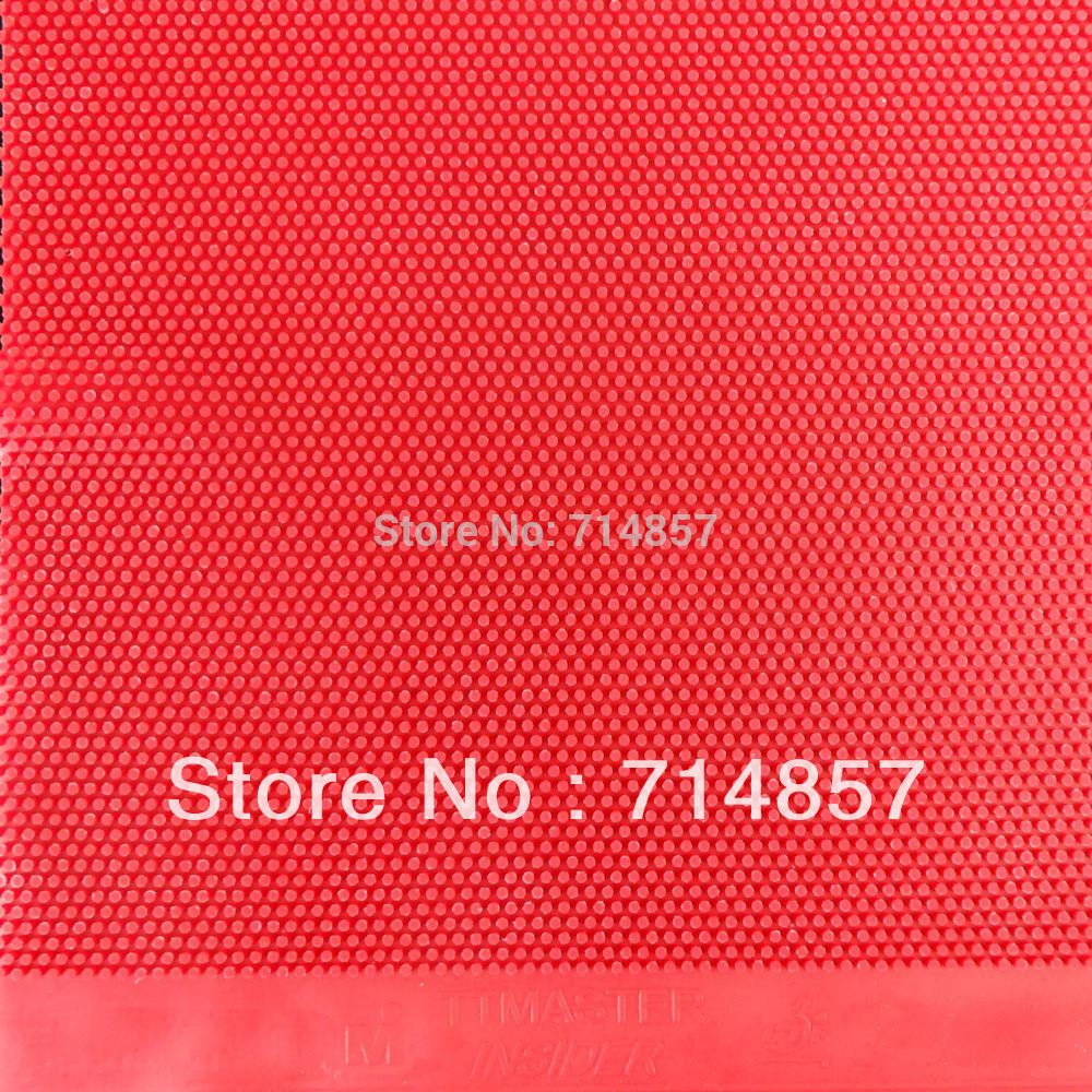 TTMASTER Insider Red Long Pips Out Table Tennis Rubber Sheet Without Sponge Top Sheet NO ITTF