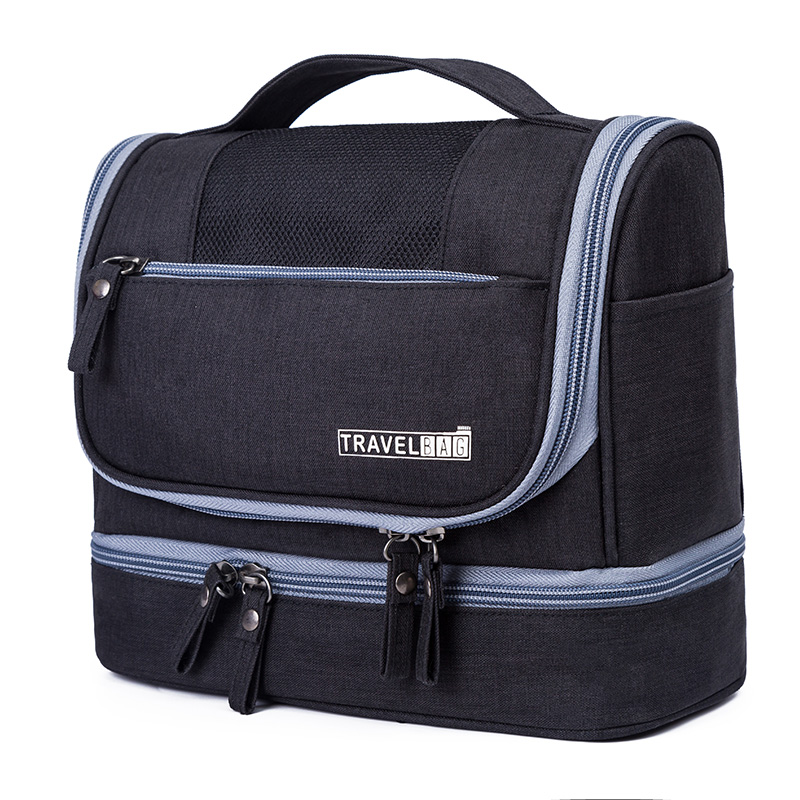 050 Fashion man Toiletry Bag oxford Travel Organizer Cosmetic Bag For Women Large Necessaries Make Up Case Wash travel Bag in Travel Bags from Luggage Bags