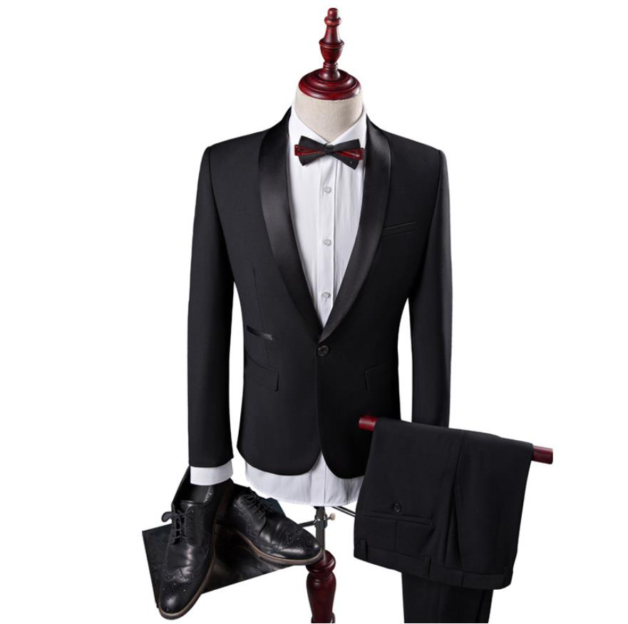 2019 Men's Fashion Coat Slim Wedding Dress Formal Wear Blazer High Quality Suits Men Woolen Blazers Casual Business Suits