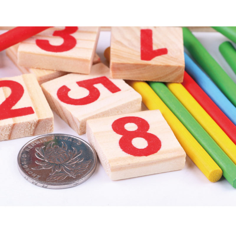 Montessori Wooden Math Toy Colorful Counting Sticks Digital Number Blocks Education Computing Abacus Learning Toys For Children