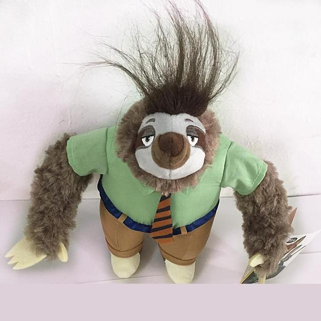 New Bonito 2016 Zootopia Animais Preguiça Flash 10 polegadas Plush Ação  figura Brinquedos de pelúcia bicho fabfefbe2ef
