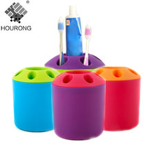 1PC Hole Tooth Brush Cup Toothpaste Toothbrush Holder Seat 5 Hole Couples Multipurpose Candy Colored Toothbrush Storage Holder(China)