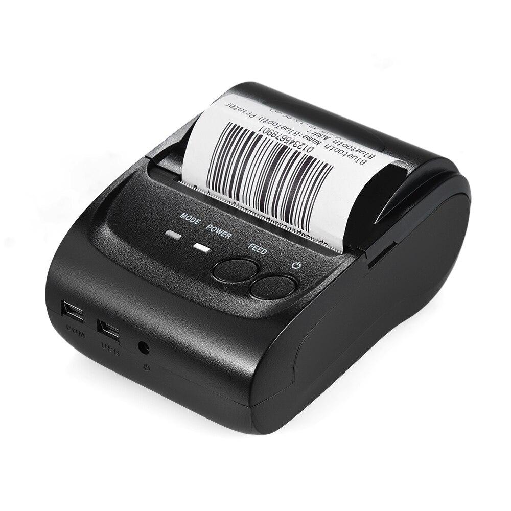 Impression portative de billet de reçu d'imprimante thermique d'usb de BT de POS-5802DD Mini pour des fenêtres d'android d'ios