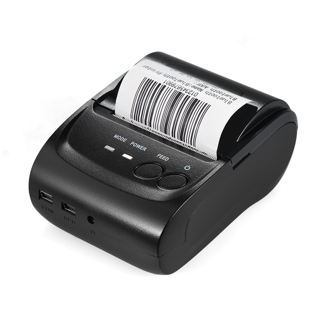 Aibecy POS-5802DD Mini Portable BT USB Thermal Printer Receipt Ticket POS Printing